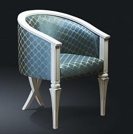 Кресло из натурального дерева Zzibo, Голубое