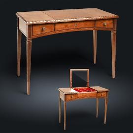 Стол туалетный с зеркалом из натурального дерева Zzibo, цвет орех, арт. 155