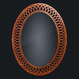 Зеркало из натурального дерева Zzibo, арт. 173