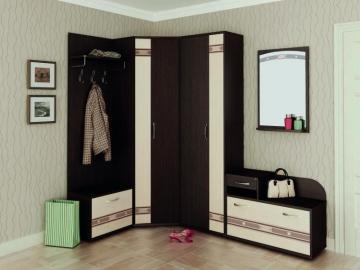 Угловой набор мебели для прихожей Триумф 3