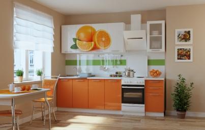 """Кухонный гарнитур """"Апельсин + оранжевый"""" 2000 мм"""