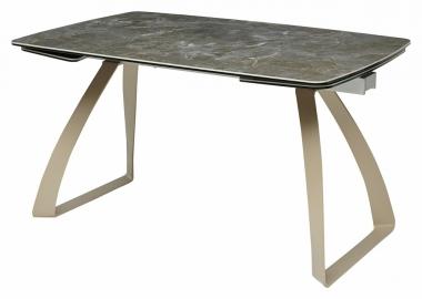 Стол ECLIPSE мрамор малахит HT-055 керамика