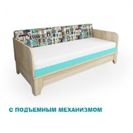 """Кровать """"Индиго"""" с подъемным механизмом - широкая"""