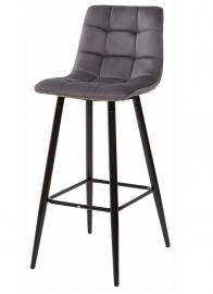 Барный стул LECCO DARK GREY, велюр