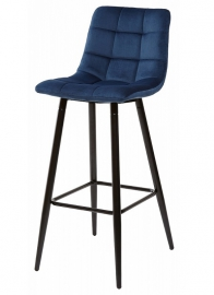 Барный стул LECCO NAVY BLUE, велюр