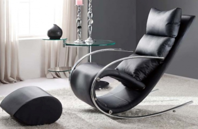 Кресло-качалка с пуфом S 001