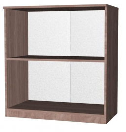 Шкаф-стеллаж открытый двухярусный ,двухсекционный Эконом