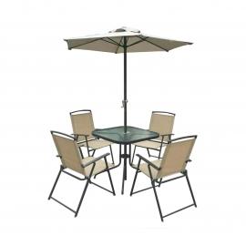 Комплект садовый Vine (стол + 4 кресла + зонт)